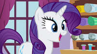 "Rarity ""that I think will be stunning"" S4E18"