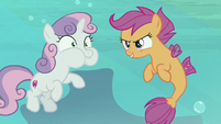 Scootaloo sings with undersea background S8E6