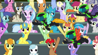 The Washouts giving out high-hooves S8E20