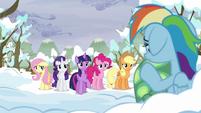 Twilight asks if Rainbow's alright S5E5