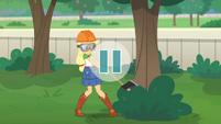 Video pauses on Applejack's tree-cutting EGDS29