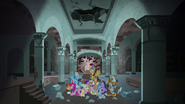 Mane Six and Pillars inside the Well of Shade S7E26