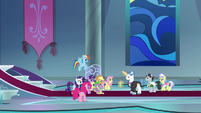 Mane Six meet the Swanifying Committee S9E13