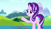 Starlight waves goodbye to the Mane Six S8E15