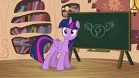 Twilight with a blackboard S4E21
