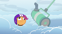 Cloudmower stops in front of Scootaloo S7E7
