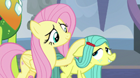 Fluttershy petting pony Ocellus S8E1