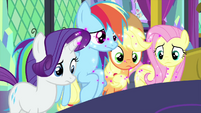 Main ponies look at sneeze glitter MLPS2
