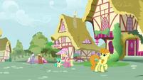 Ponies in Ponyville hear Discord's echo S9E23