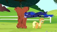 Princess Luna flies into the rotten apple S5E13