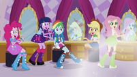 Rarity's friends excited EG