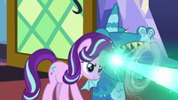 Starlight Glimmer zaps the floor with magic S7E24
