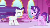 Starlight looks embarrassed at Rarity MLPS1