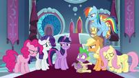 Twilight Sparkle looks embarrassed S9E13