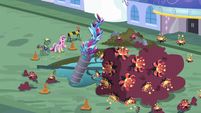 Cadance next to sealed water main S5E10
