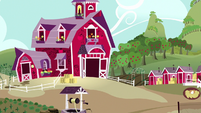 Exterior view of Sweet Apple Acres S8E10