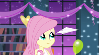 Fluttershy sees paper airplane EG2