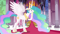 Princess Celestia very worried about Twilight S7E1