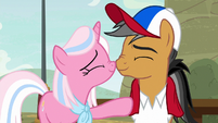 Quibble and Clear Sky nuzzling noses S9E6
