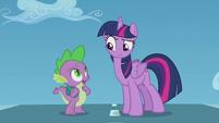 "Spike ""isn't that Rainbow Dash?"" S5E25"