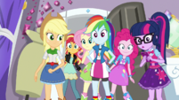 The Equestria Girls in Rarity's bedroom EGS1