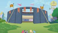 Equestria Rodeo competition stadium in Canterlot S2E14