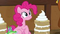 Pinkie Pie eating vanilla yak cake S7E11
