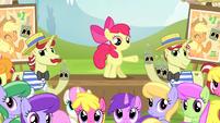 Ponies look at Applejack S4E20