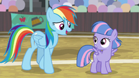 "Rainbow ""you can thank Quibble"" S9E6"