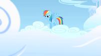 Rainbow Dash bracing herself for a rehearsal S1E16