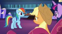 Rainbow Dash having a realization S7E23