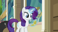 Rarity checking her pocketwatch again S8E4