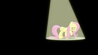 Fluttershy sings under a spotlight S6E11