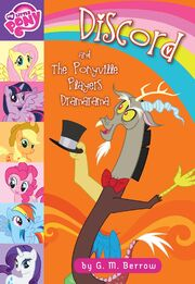 Portada del libro Discord and the Ponyville Players Dramarama.jpg