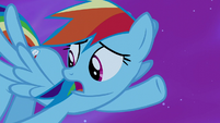 """Rainbow Dash """"too busy saving ponies to catch it"""" S5E13"""