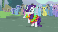 Rarity looking at her dress S3E5