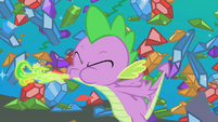 Spike produces his own measly fire S1E24