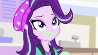 Starlight Glimmer listens to Sunset Shimmer EGS3