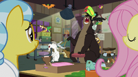 Clinic animals cheering for Fluttershy S7E5
