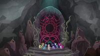 Mane Seven in front of Tartarus' gates S8E25