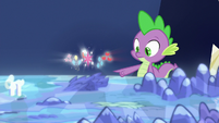 Mane Six's cutie marks float over the Hollow Shades S7E26