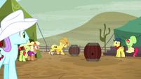 Ponies watching barrel racing S5E6