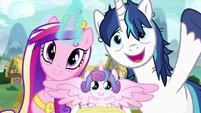 Princess Cadance, Flurry Heart, and Shining Armor S7E3