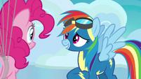 """Rainbow Dash """"his sensitive tortoise tummy"""" S7E23"""