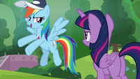 """Rainbow Dash """"playing in the game"""" S9E15"""