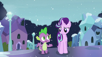 Spike --I don't remember him saying he didn't want to be friends-- S6E2