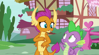Spike and Smolder look very worried S8E24
