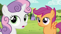 "Sweetie ""I thought Apple Bloom was gonna be here too"" S5E17"
