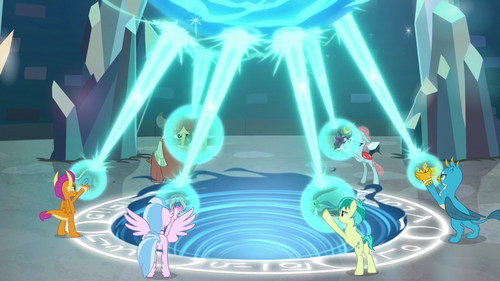 Young Six raising their artifacts S8E26.png