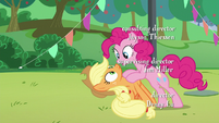 """Pinkie's third """"how"""" to Applejack S5E24"""
